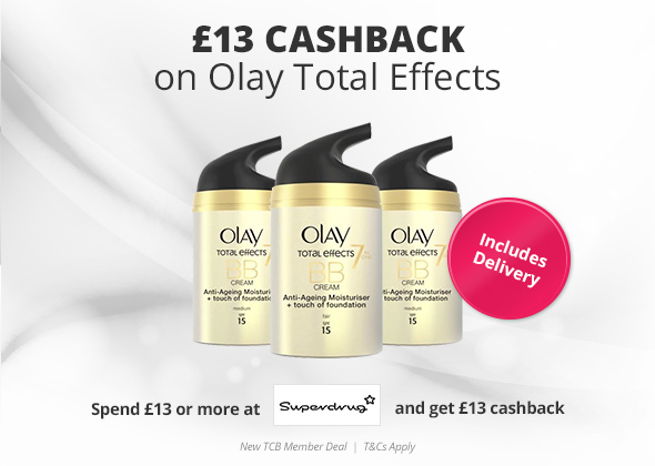 13 Cashback On Olay Total Effects