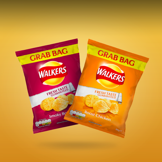 Enjoy A Free Grab Bag Of Walkers Crisps In-store