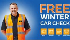 Free Halfords Winter Car Check