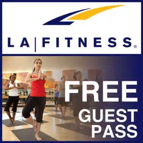 LA Fitness - Free 1 Day Gym Pass